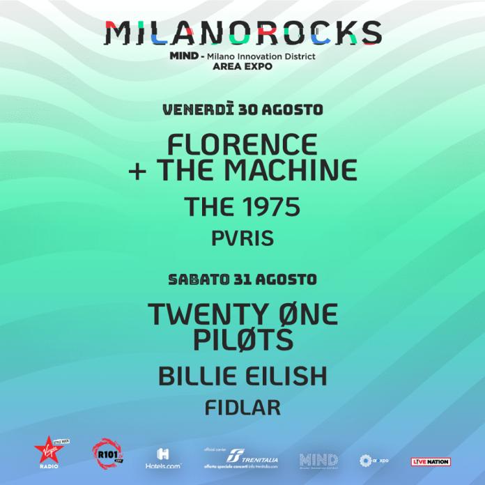 FLORENCE + THE MACHINE, THE 1975, PVRIS @ MILANO ROCKS - Milano AREA EXPO