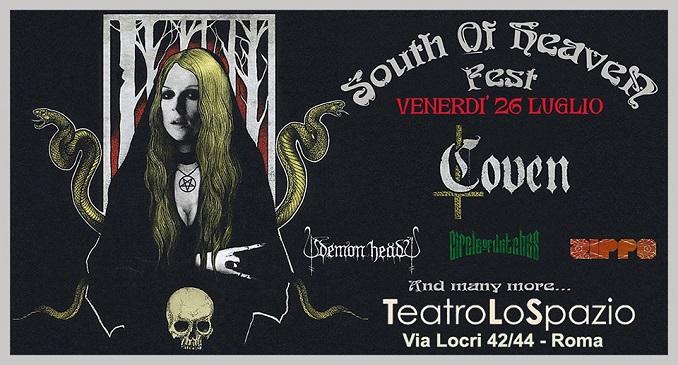 South of Heaven Fest - Il 26 di Luglio le tenebre su Roma