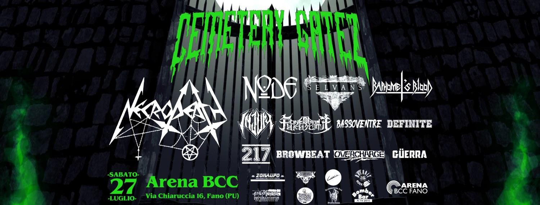 Cemetery Gatez Fest 2019 a Fano con Necrodeath, Node e altre band italiane. Il bill completo