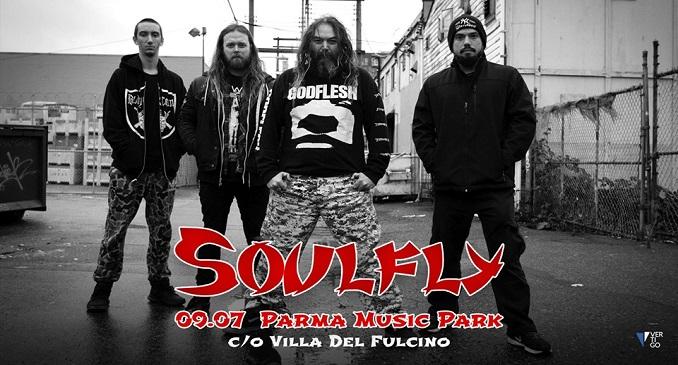 Soulfly - Unica data in Italia a Luglio, a Parma!