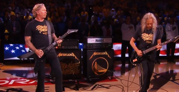 METALLICA: suonano l'inno nella finale dell'NBA tra i Golden State Warriors e i Toronto Raptors, video
