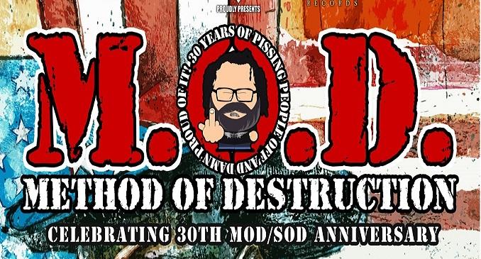 M.O.D. (Method Of Destruction) - A novembre la band di Billy Milano a Paderno Dugnano