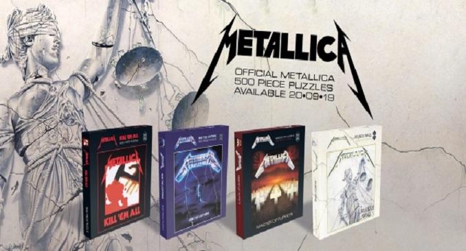 "Metallica - Da settembre i puzzle di ""Kill 'Em All"",""Ride The Lightning"",""Master Of Puppets""e""... And Justice For All"""
