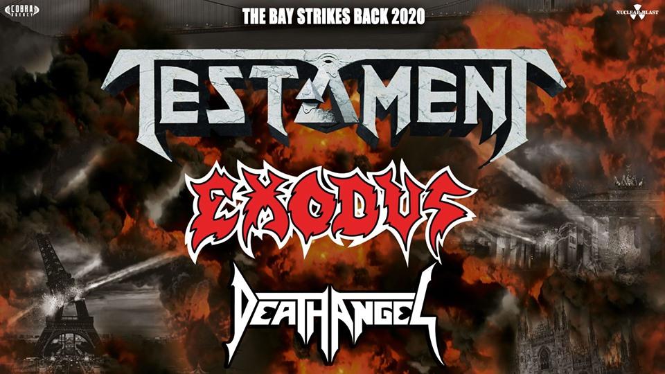 Testament Exodus e Death Angel - Unica data a Febbraio