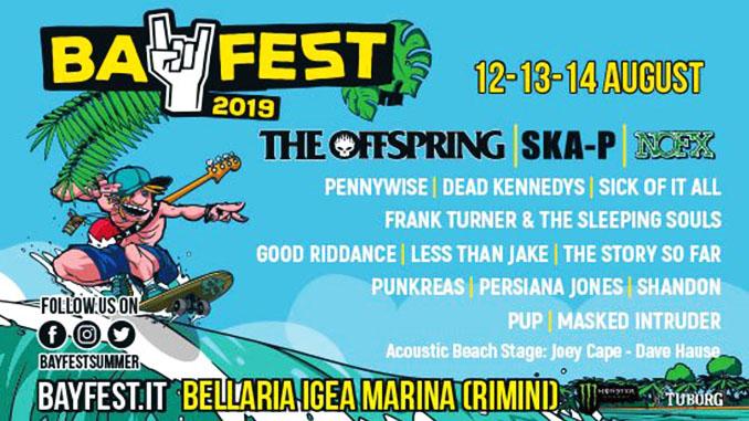BAY FEST 2019: orari, line up, biglietti e tutti le informazioni sul festival punk rock di Bellaria Igea Marina (Rimini)