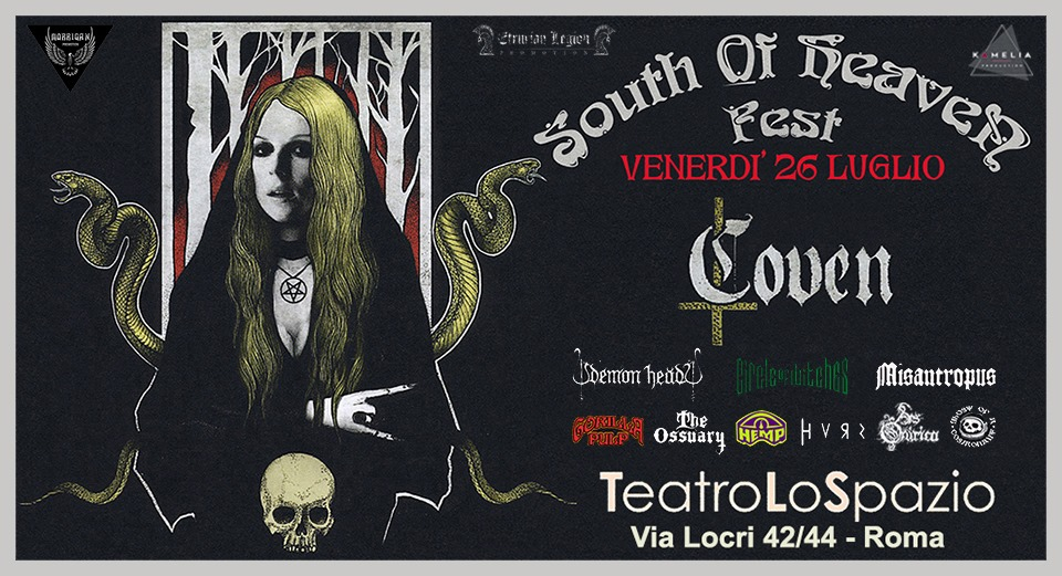 SOUTH OF HEAVEN - La Line Up completa del festival Doom Stoner