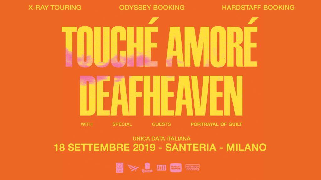 Touché Amoré, Deafheaven e Portrayal of Guilt @ Santeria Toscana 31, Milano