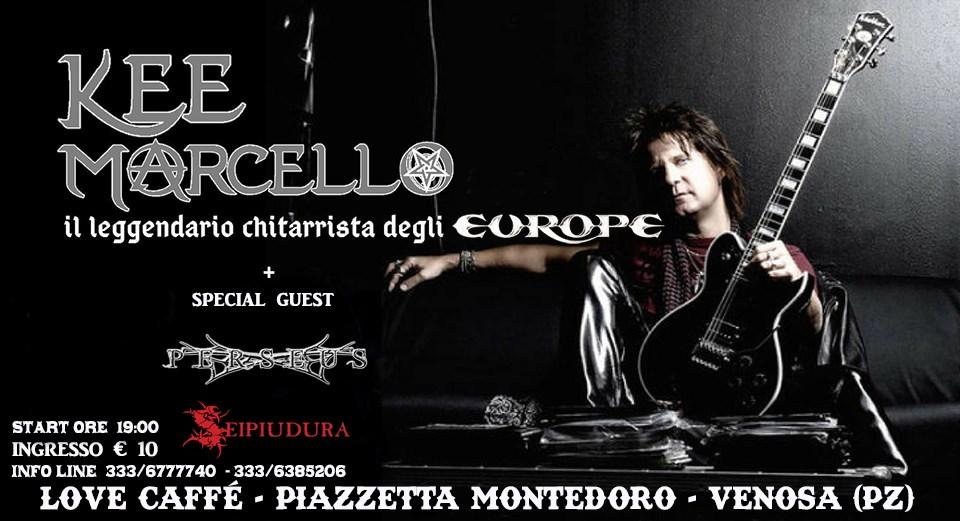 KEE MARCELLO - Storico chitarrista degli Europe in concerto a Venosa (Pz)