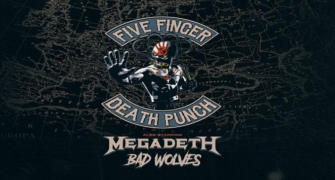 Five Finger Death Punch - A Febbraio unica data a Milano assieme a Megadeth e Bad Wolves