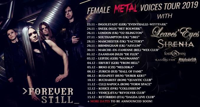 Forever Still al FEMALE METAL VOICES TOUR 2019, eventoche attraverserà anche l'Italia a Dicembre