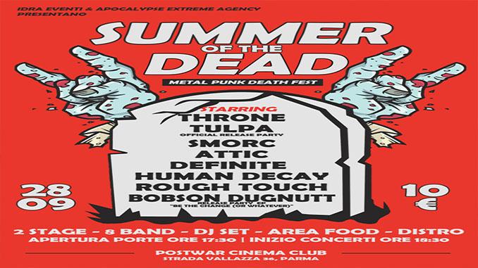 SUMMER OF THE DEAD – Parma 28 settembre - I dettagli dell'evento