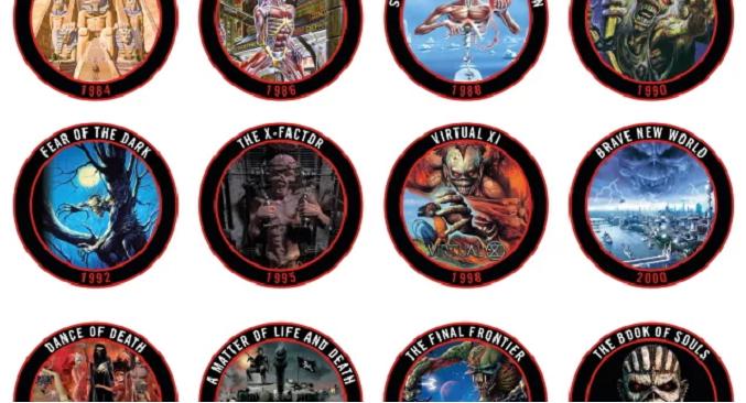 Iron Maiden - Pronta la collezione dei tappi di birra che raffigurano tutte le copertine degli album della band