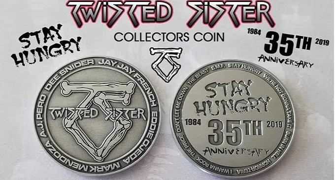 Twisted Sister - Pronta la moneta celebrativa per il 35esimo anniversario di 'Stay Hungry'