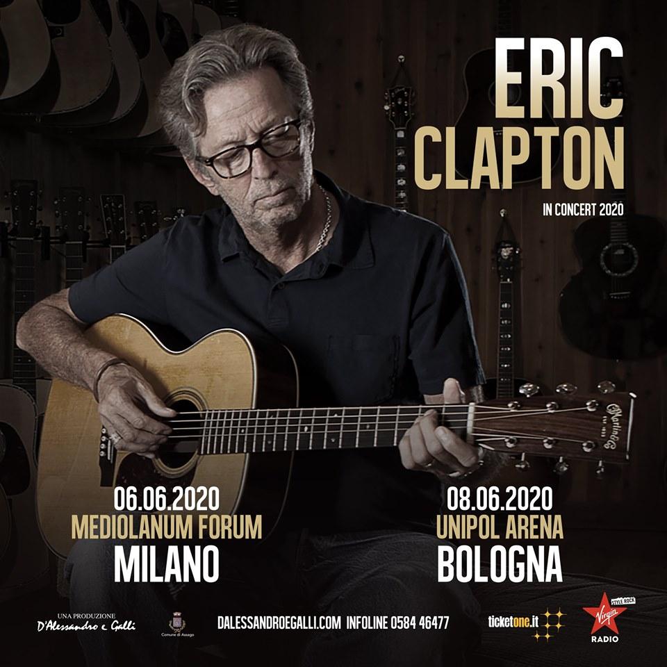 Risultato immagini per Eric Clapton torna in Italia