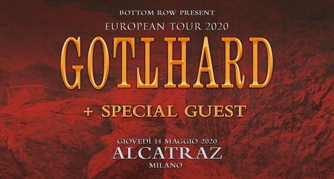 Gotthard - Unica data in Italia a Maggio a Milano