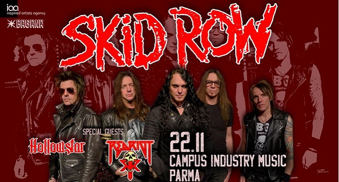 Una piacevole serata a suon di rock'n'roll assieme a Skid Row, Hollowstar, Red Riot, al Campus Industry di Parma - 22 novembre 2019