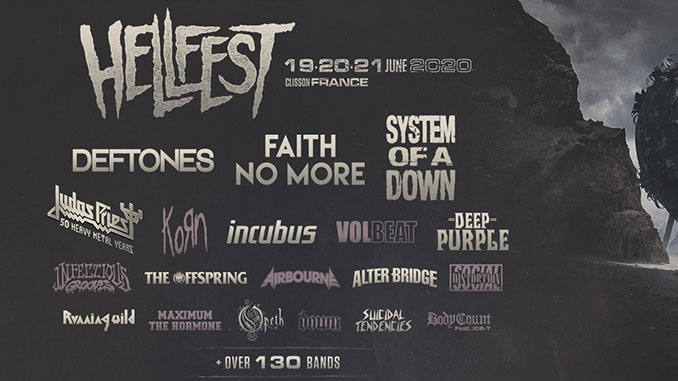 Hellfest 2020, ecco gli headliner: Deftones, Faith No More e System of a Down. Il bill completo