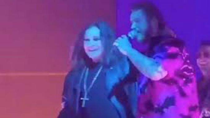 OZZY OSBOURNE: il primo live dopo la convalescenza... con il rapper Post Malone