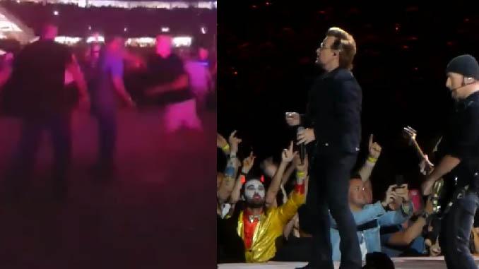"""U2: mega rissa al concerto a Perth durante """"Beautiful Day"""". """"Pugni da ogni parte"""""""